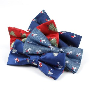 Colorful Jacquard polyester  bow tie