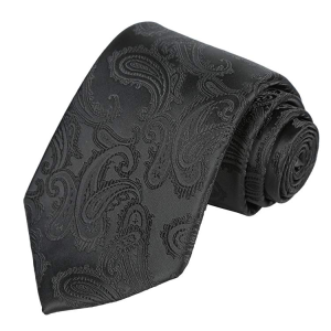 Mens Tie Set: Paisley Necktie + Pocket Square Hanky + Gift Box