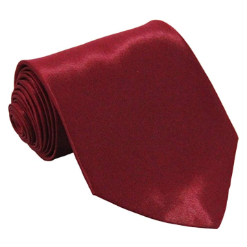Ties For Men Satin Necktie - Mens Solid Color Neck Tie Wedding Neckties