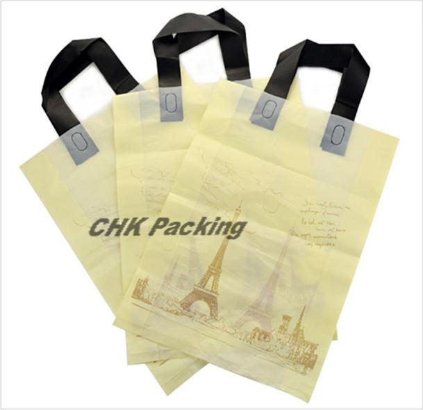 Qingdao  Shopping   Pe Garment Soft Loop Handle Plastic Bag