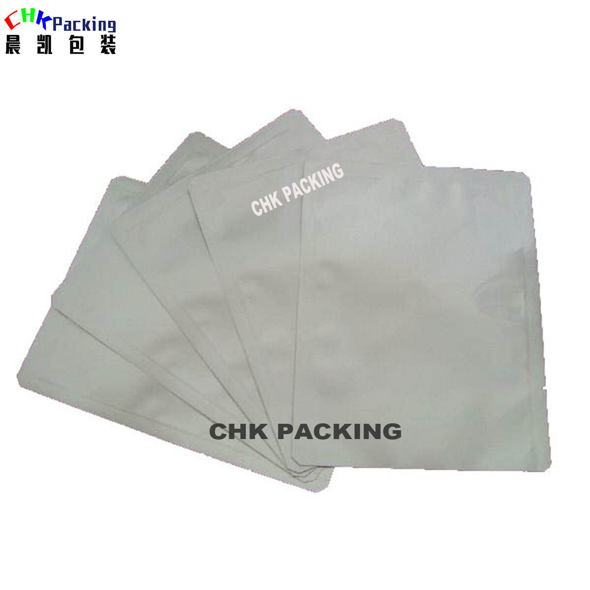 CHK Packing heat seal aluminium foil bag vacuum moisture barrier 3 side sealed food packaging bags