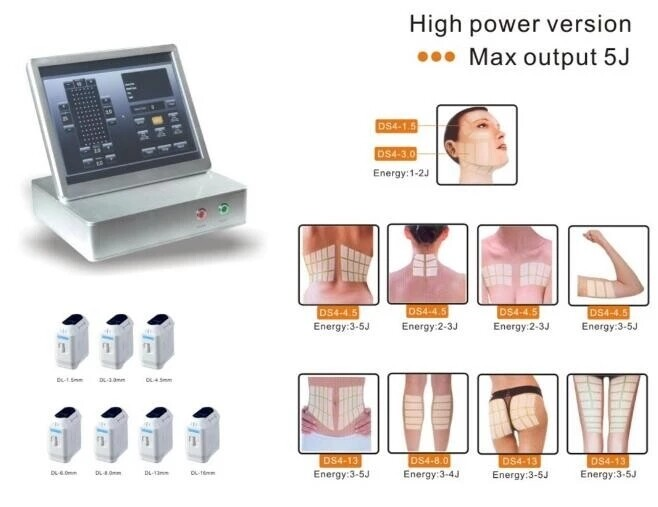 Focused ultrasound  hifu cartridges 3D hifu face lifting beauty device