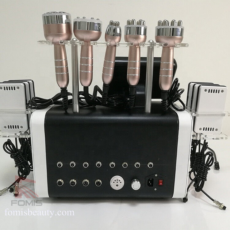 6 in 1 Lipolaser Vacuum RF 40K cavitation slimming machine