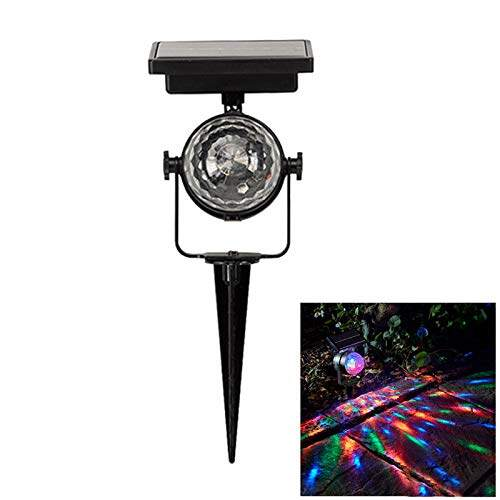 Outdoor Solar Rotary Colorful Light Lawn Garden Lamp Color Projector Light Deco
