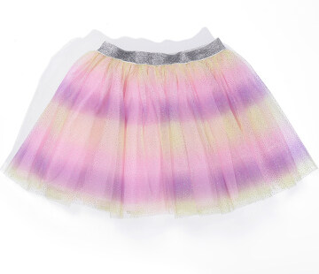 Fashion Baby Girl Rainbow Tutu Skirt Infant Toddler Ruffles Elastic Waist Tulle Skirt