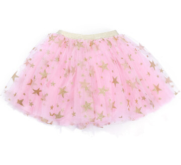 Fashion Baby Girl Sparkle Star Tutu Sirt Infant Toddler Ruffles Elastic Waist Tulle Skirt Christmas Costumes