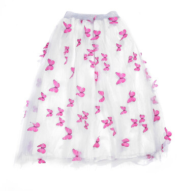 New Design Women Long Tutu Skirt Girl's Butterfly Collage Sequin Lattice Rainbow Sparkle Star Long Tulle Skirt
