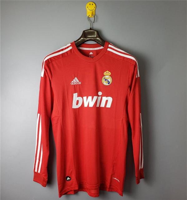 Retro Real Madrid Away Long Sleeve soccer jersey 2011-2012
