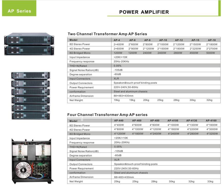 AP series transformer amplifier AP series transformer amplifier