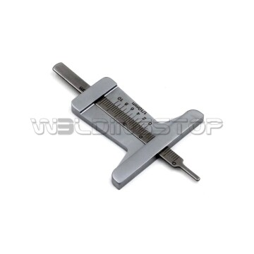 Stainless Steel taper 0~50mm Tyre Tire Veins Tread Depth Gauge Caliper