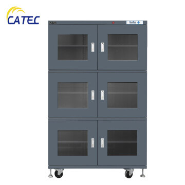 Desiccant dry cabinet with humidity alarming buzzer DM3-C1436E-6B