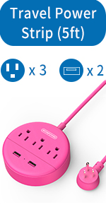 pink power strip