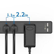 extension cord flat plug with usb