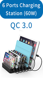 6 ports charging station with QC 3.0