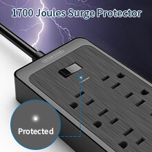 power strips with surge protection for tv computer appliances