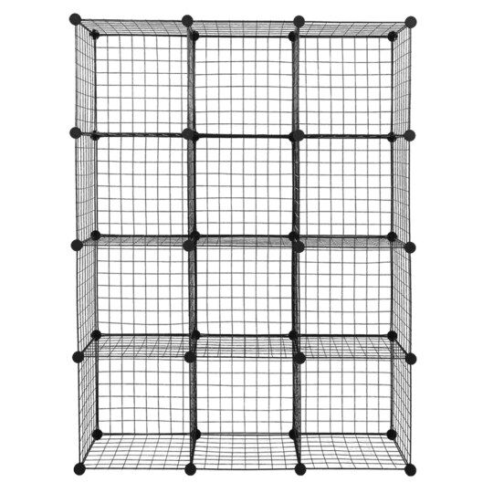 Origami 65-in D x 20.2-in W x 61.6-in H 4-Tier Wire Freestanding Shelving  Unit in the Freestanding Shelving Units department at Lowes.com | 540x540