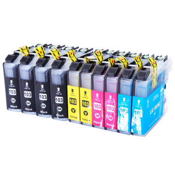 10pcs LC103XL Ink Cartridge 4BK/2C/2M/2Y for Brother