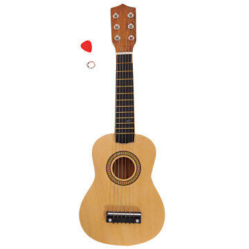 "21"" Acoustic Guitar   Pick   String Wood Color"