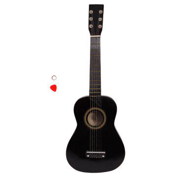"25"" Acoustic Guitar   Pick   String Black"