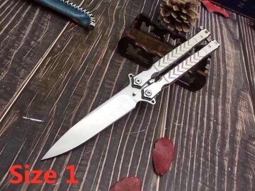 Practice Knife Butterfly Trainer Balisongs Butterfly Knives Sharp Outdoor Tactical Knifes Hunting Combat Tool