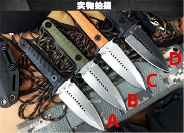 8.1 Inches Crusader Tactical Double Edge Knife Aus-8 Blade G10 Handle High Hardness Outdoor Survival Knives Emergency Rescue Tools