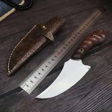 Multi-functional VG10 white steel boneless pork cleaver small cutlass kitchen knife for household sheep killing