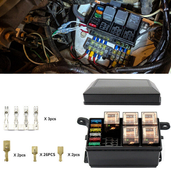 Pseqt 6-way fuse box with relays |auto waterproof fuse relay box blockUnderglow Kit, Underglow Lights, Rgb Rock Lights, Utv Light Bar, Pontoon  Lights for sale