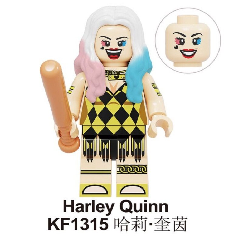 Kf1315 Kf1316 Kf1317 Kf1318 Kf1319 Kf1320 Kf1321 Kf1322 Harley Quinn Set Sale Building Blocks Birds Of Prey America Comedy Stranger Things Figures For Children Gift Toys Kf6113