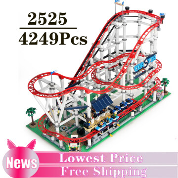 4249PCS Roller Coaster Park Toy City Building Blocks Bricks New