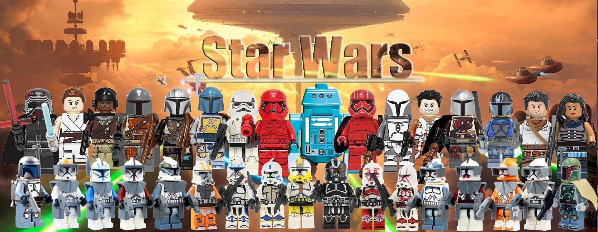 Custom Black Sun Syndicate Soldier star wars minifigures black on lego bricks