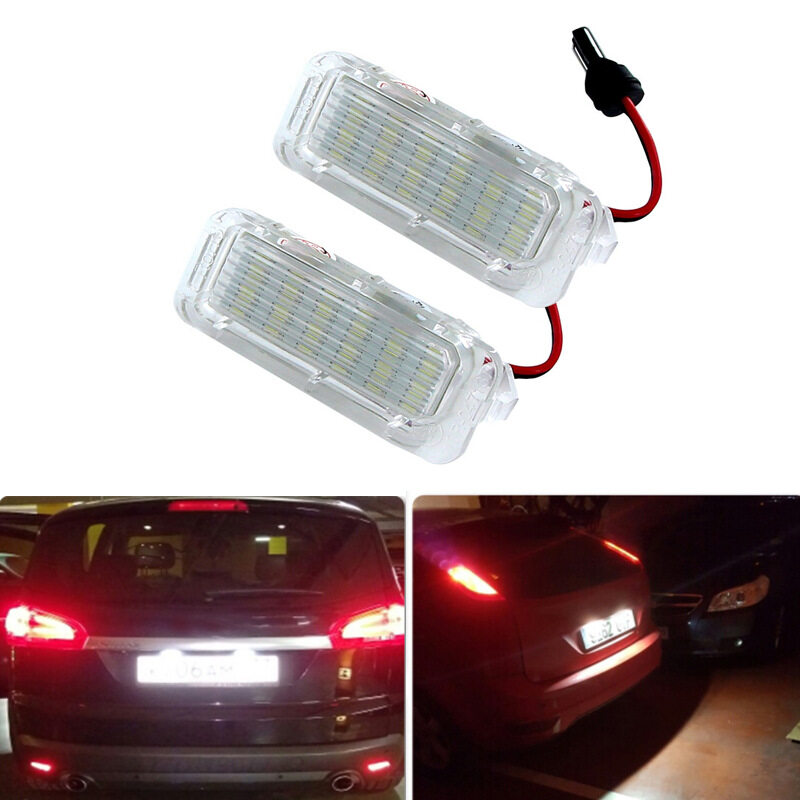 Canbus 12v LED Number License Plate Light Lamp Error Free For Ford Focus Fiesta Mondeo B-Max Kuga Galaxy