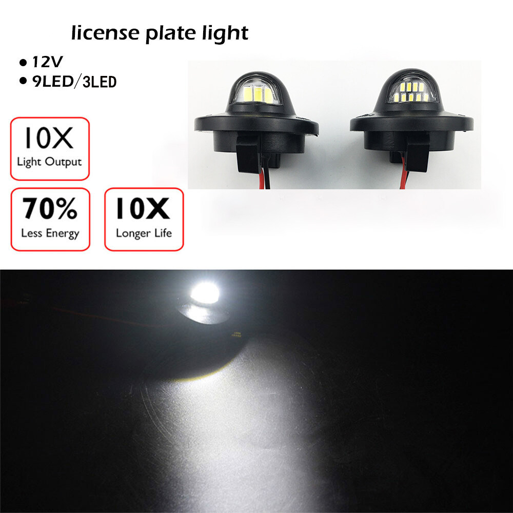 Ford License Plate Light 12V 9 LED Car Light LED Car Signal Light Professional Car Accessories for Ford F150 F250 F350