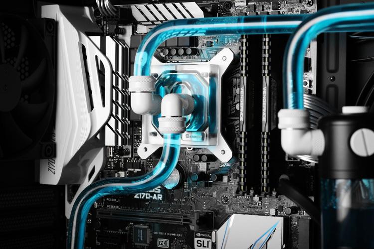 Barrow hard tube Water Cooling Kits with 240mm copper Radiator,CPU Block,LED fans,Reservoir for AMD 3 Intel LGA 1151 LGA 2011