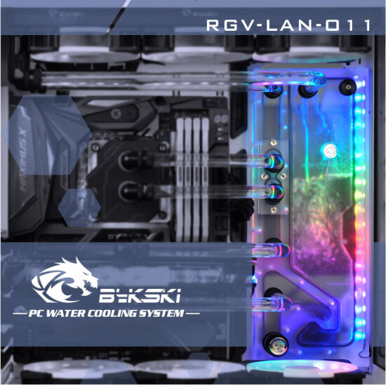 FormulaMod - Bykski RGV-LAN-O11, Waterway Boards For Lian Li PC-O11
