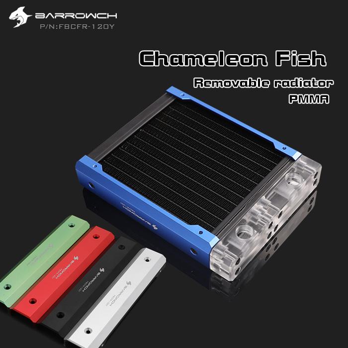 Barrowch FBCFR-120/240/360/480, Chameleon Fish Modular Radiators,  Acrylic/POM Removable Radiators, Suitable For 120mm Fans