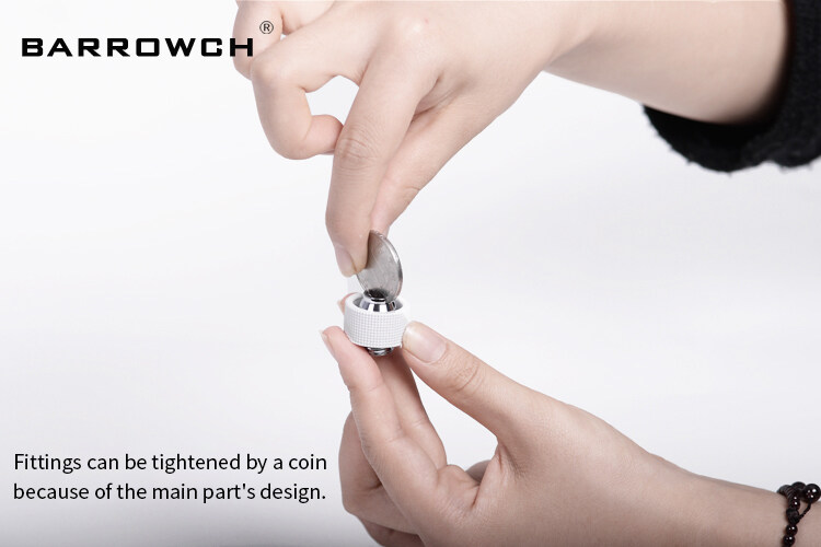 "Barrowch Soft Tubes Fitting 3/8""ID*1/2""OD 10x13mm, 3/8""ID*5/8""OD 10x16mm, G1/4"" Fittings For Soft Tubing, FBHKN-3/8"