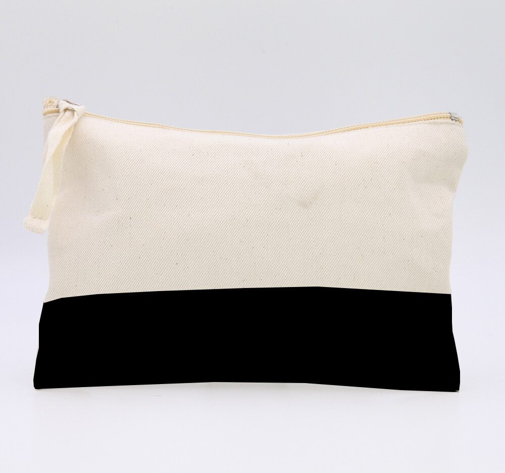 Cotton Canvas Cosmetic Bag,Cotton Canvas Toiletry Bag,Cotton