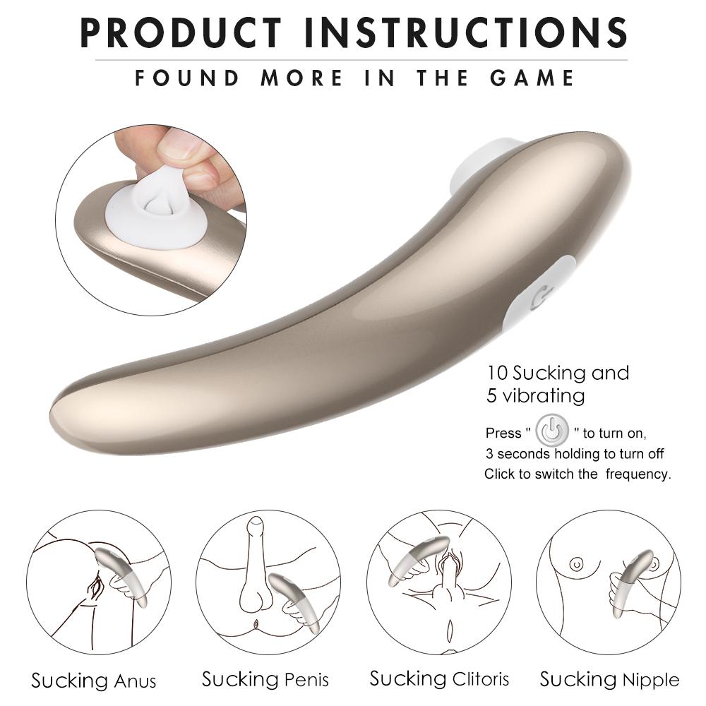 S-HANDE 9 Vibration Waterproof Silicone Clitoris Pussy Nipple Breast Stimulator Sucker Sucking Vibrator Sex Toys women