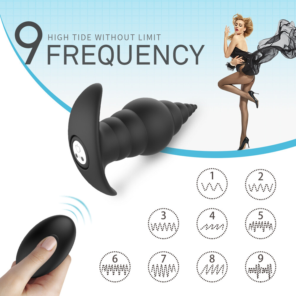 Remote Control Rechargeable Silicone Electric Anal Probe Sex Toy for Male Butt Plug Vibrator