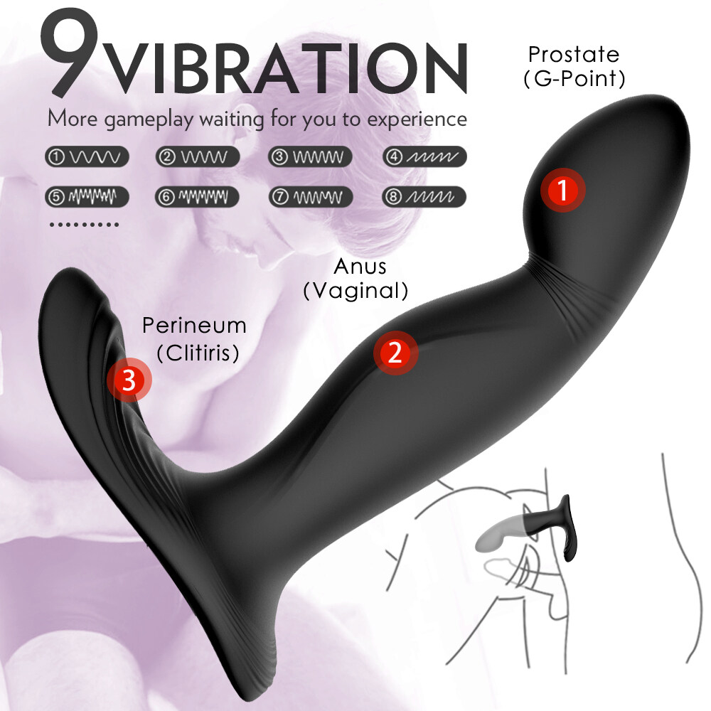 S-HANDE Hot Sale Electric Anal Sex Toys Prostate Massager Vibrator Anal Plug For Women Men Couple