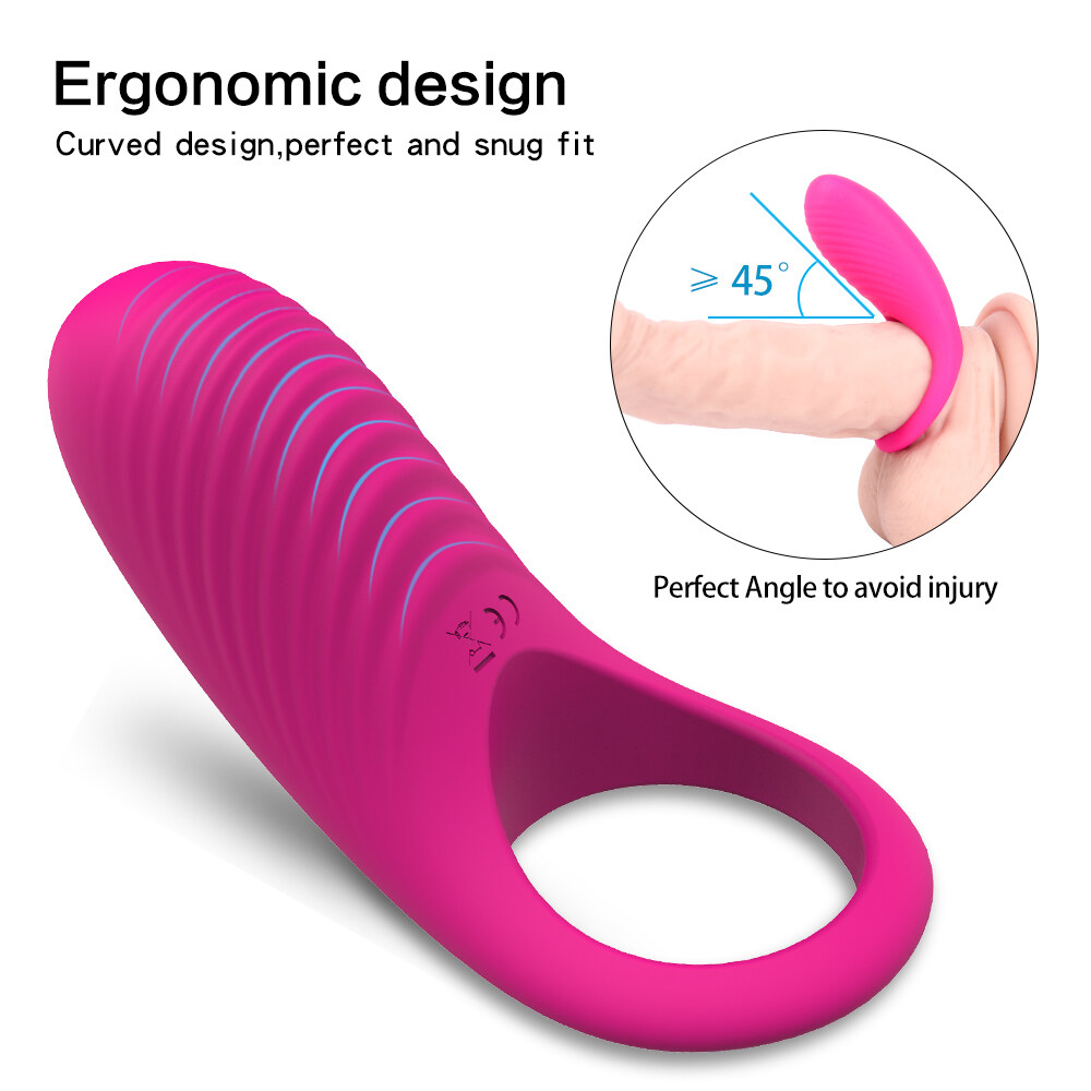 2019 Hot selling sex toy 9 patterns vibrating silicone cock ring picture, penis cock dick for men