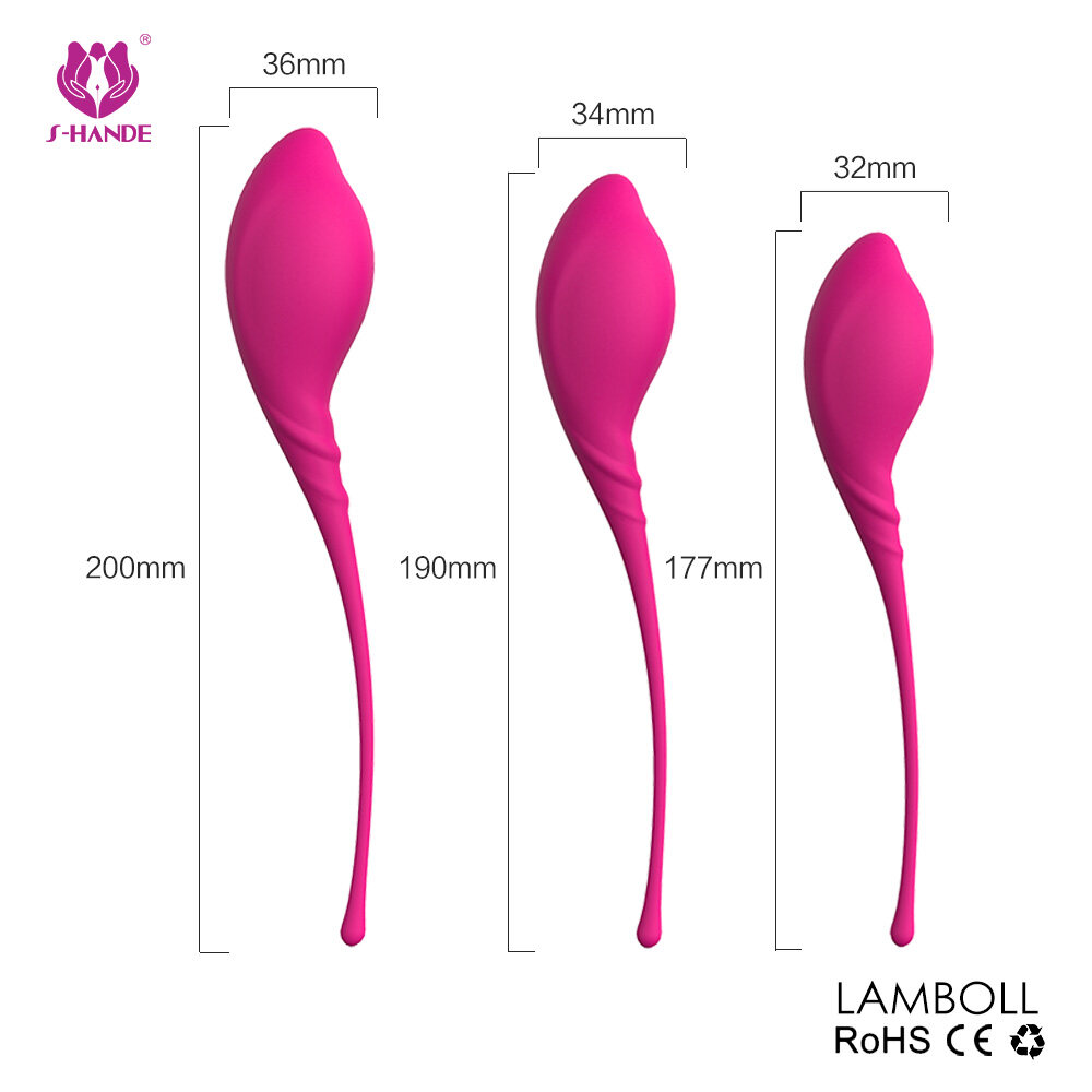 3 silicone kegel balls kits vagina exercise ben wa balls for women