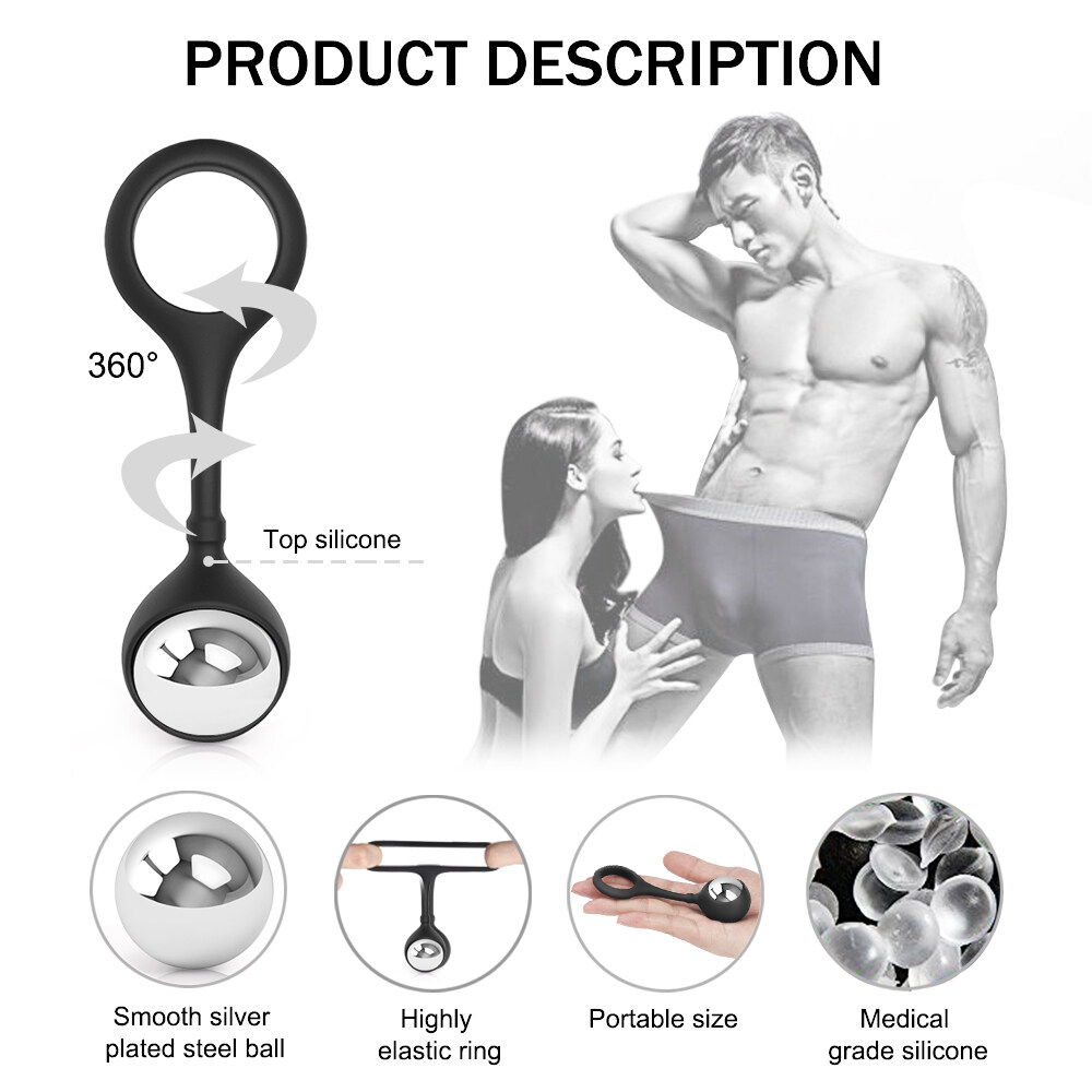 Adullt Toy Silicone Kegal Balls Flexible Soft Pennis Ring for Men Women Shake Rooster Rings