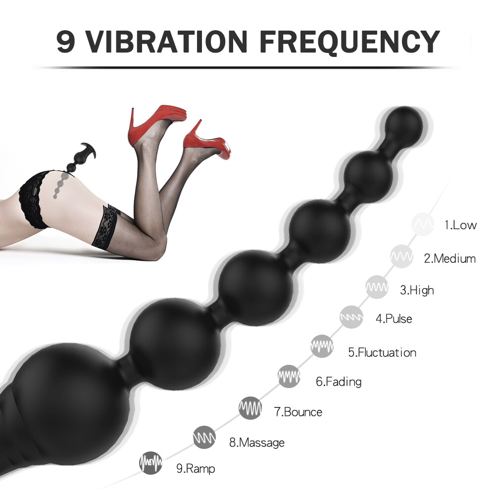 High Quality Silicone Anal Plug vibrating butt plug Black Silicone Long Butt Plug anal beads plug black
