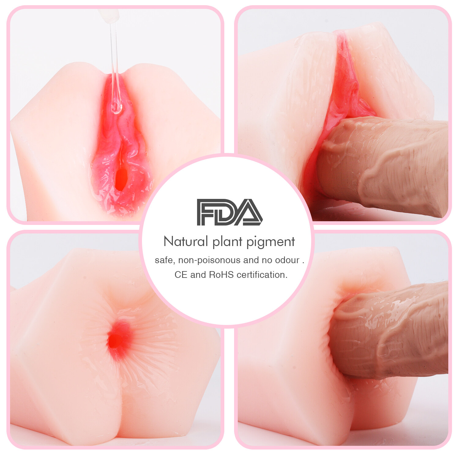 S-HANDE 3D Realistic Pussy Vagina Ass Sex Toys Dolls Male Masturbator For man vagina toys sex adult
