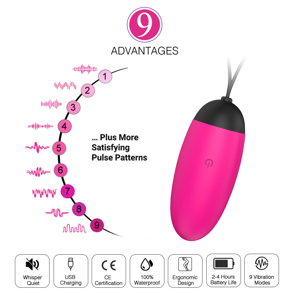 New Waterproof Women Wireless Vibrating Jump Eggs 9 pattern Remote Control Vibrator Adult Sexy Toys