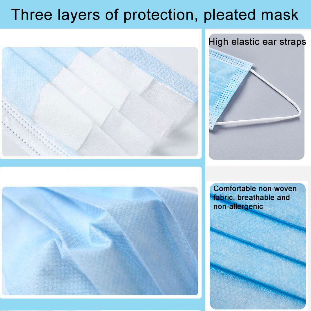 Civil Disposable Mask with Non-woven CE FDA for Adult Anti-virus Covid-19 PM2.5 Filter Pollution Dust Anti-coronal Virus Masks Outdoor Pollen Allergy Filtration Exhaust Gas Mouse-muffle30pcs pollen allergy filtration mask | outdoor smokeproof filtration