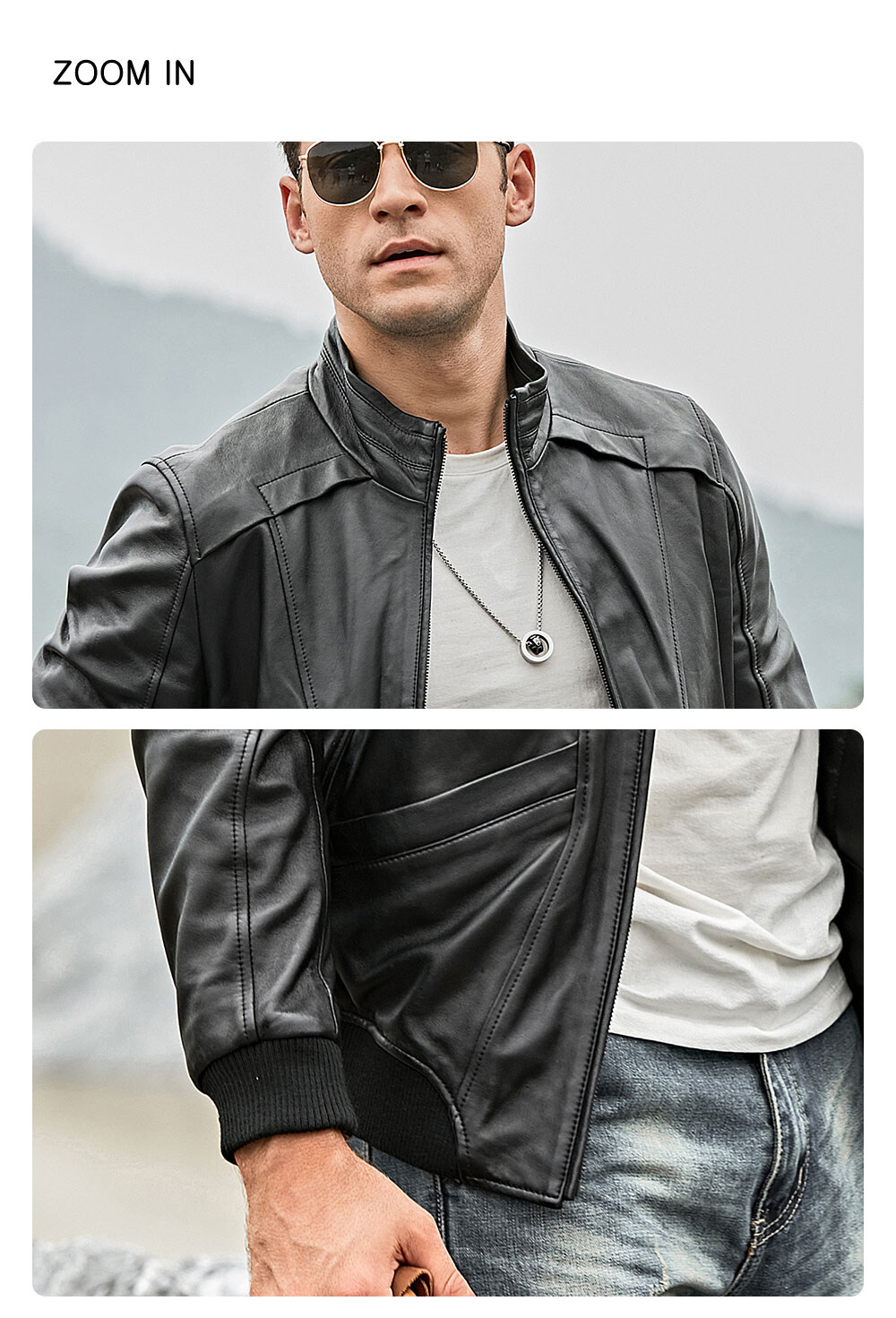 Men's Stand Collar Leather Motorcycle Jacket  Buy stand collar flavor leather motorcycle jacket| stand collar flavor leather motorcycle jacket brands
