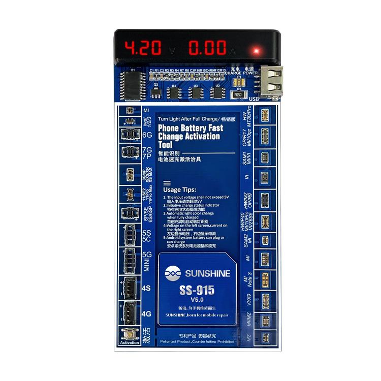 SUNSHINE SS-915 latest version IP/smartphone battery activation chargingsunshine SS-915 IP/smart Phone Battery Battery Activity Charging
