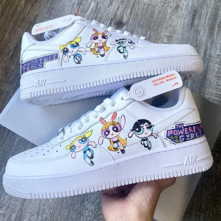 The Powerpuff Girls Custom Shoes For Air Force 1 White Graffiti